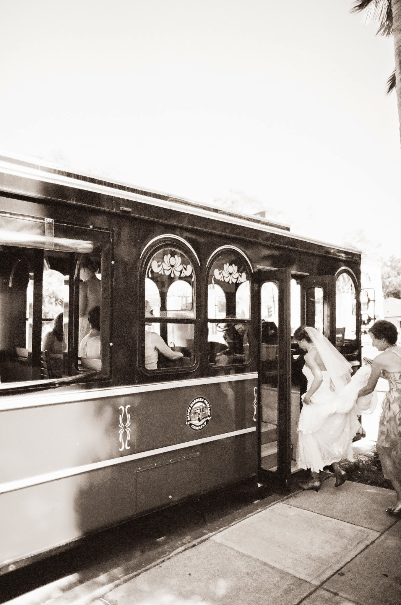 www.felicievents.com | Felici Events | Historical Museum Wedding | Santa Barbar Trolley