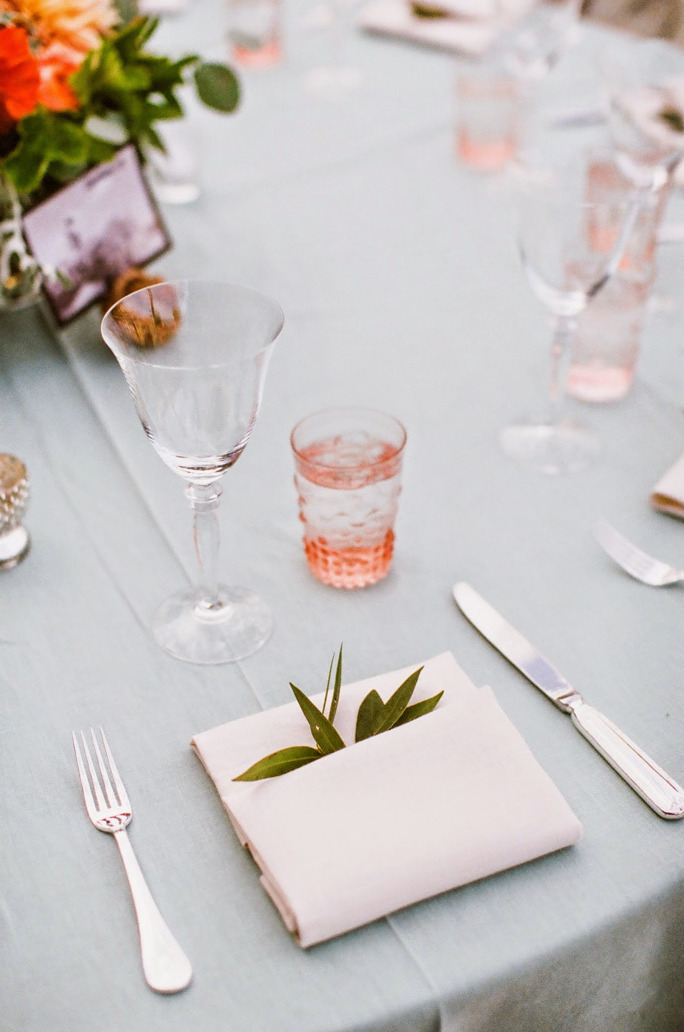 www.felicievents.com | Felici Events | Historical Museum Wedding | Eclectic Orange Wedding | Place Setting Details