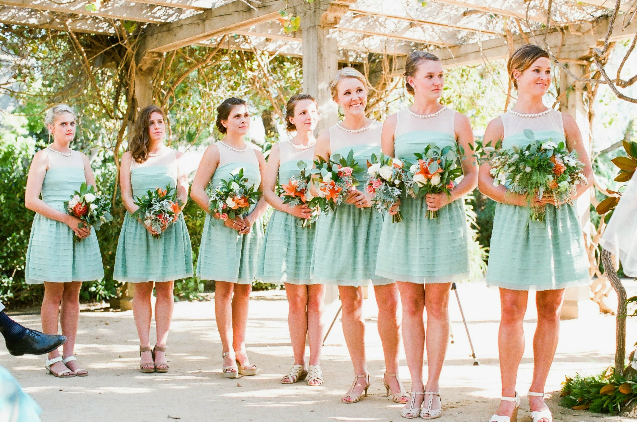 www.felicievents.com | Felici Events | Historical Museum Wedding | Eclectic Orange Wedding | Bridesmaid Dresses Teal