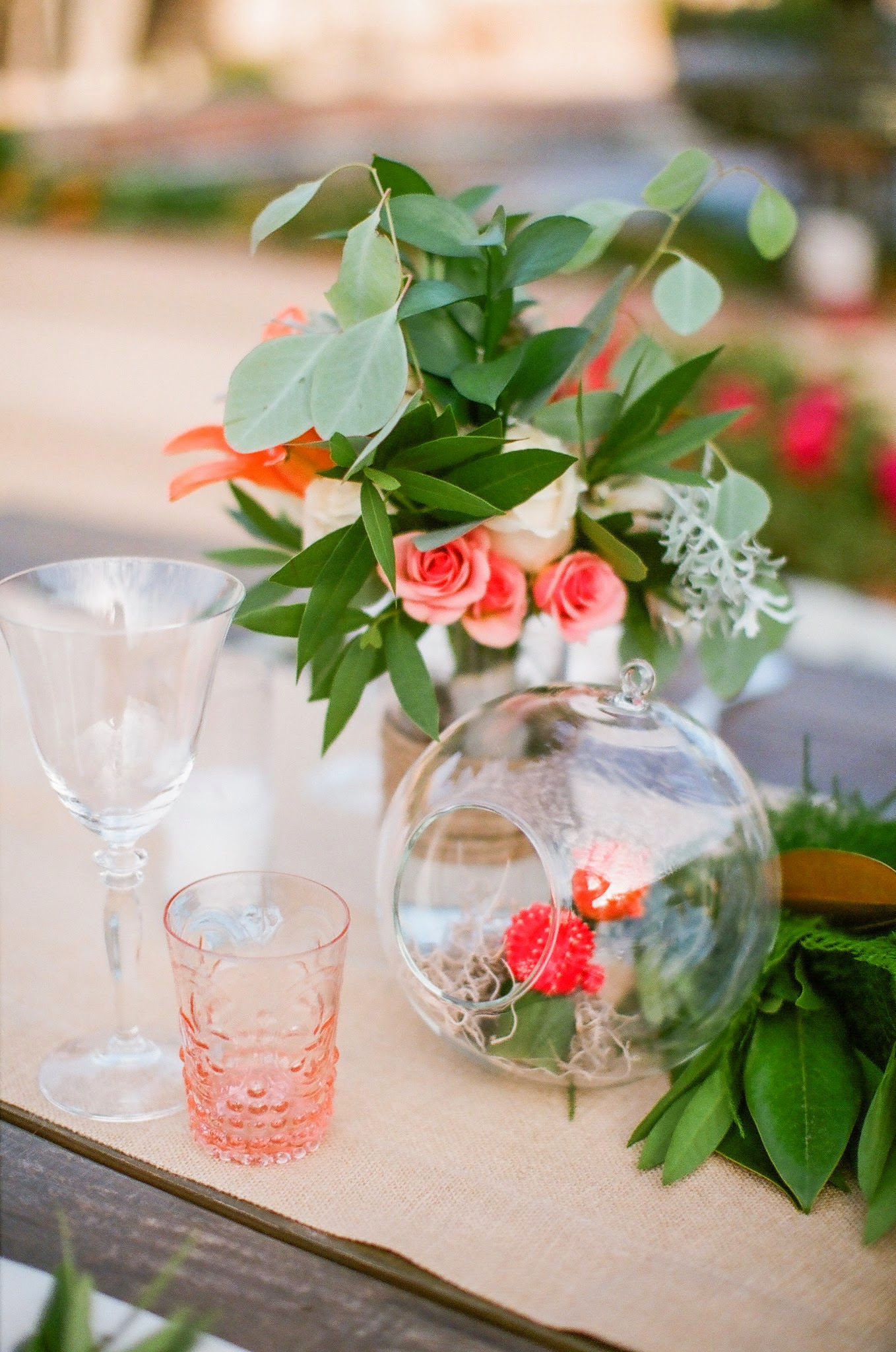 www.felicievents.com | Felici Events | Historical Museum Wedding | Eclectic Orange Wedding | Table Setting