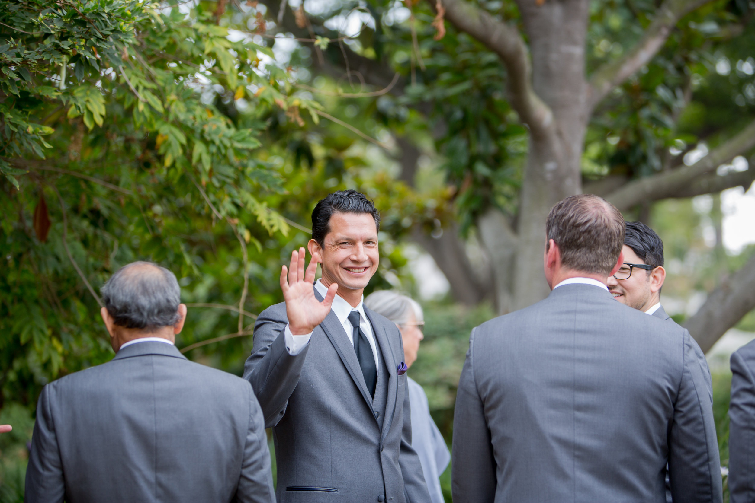 www.felicievents.com | Groom | Felici Wedding | Grey Suit | Groomsmen | Santa Barbara Wedding