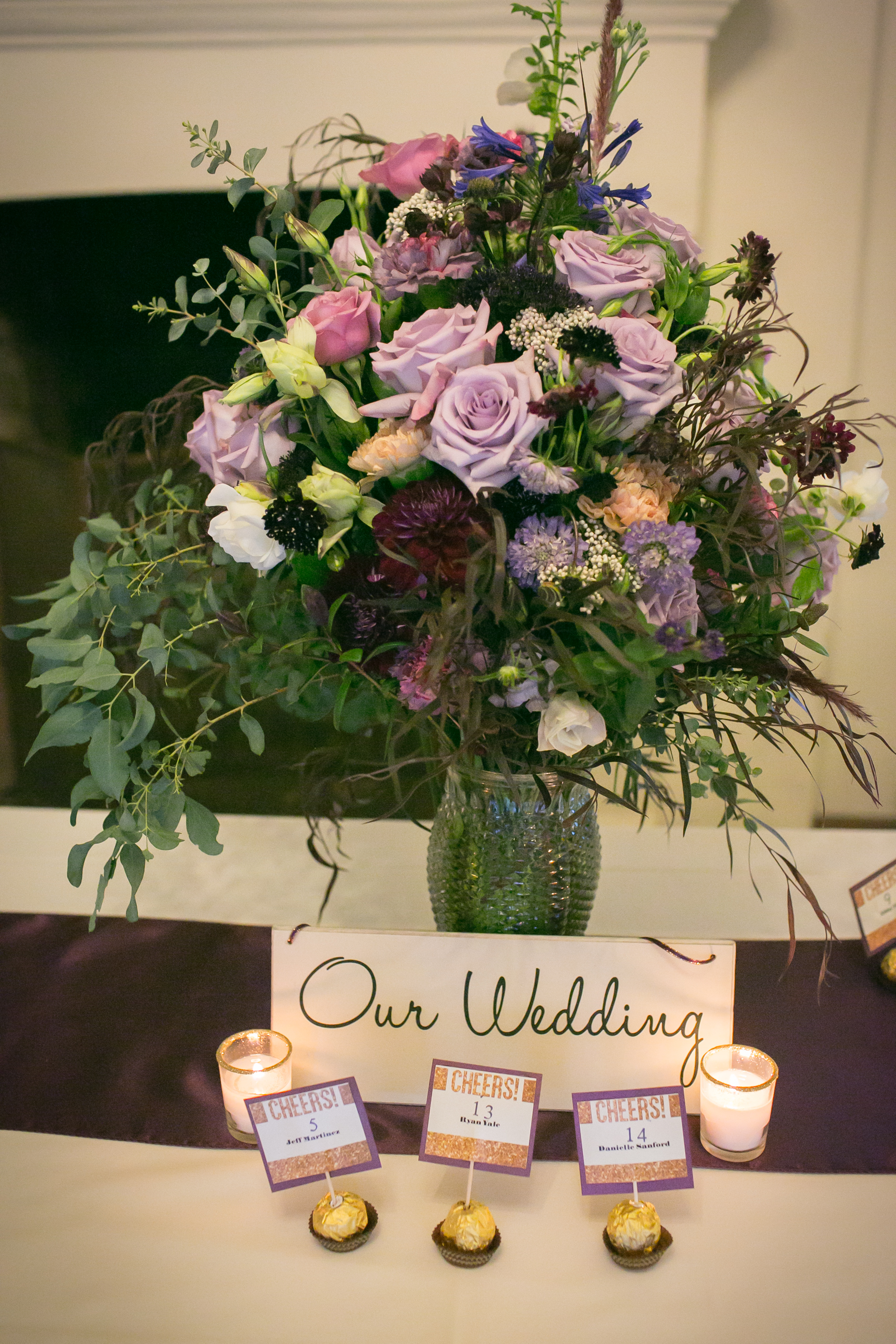 www.felicievents.com | Felici Wedding | Purple Wedding | Santa Barbara Wedding Reception | El Paseo Wedding | Wedding Flowers | Margaret Joan Floral