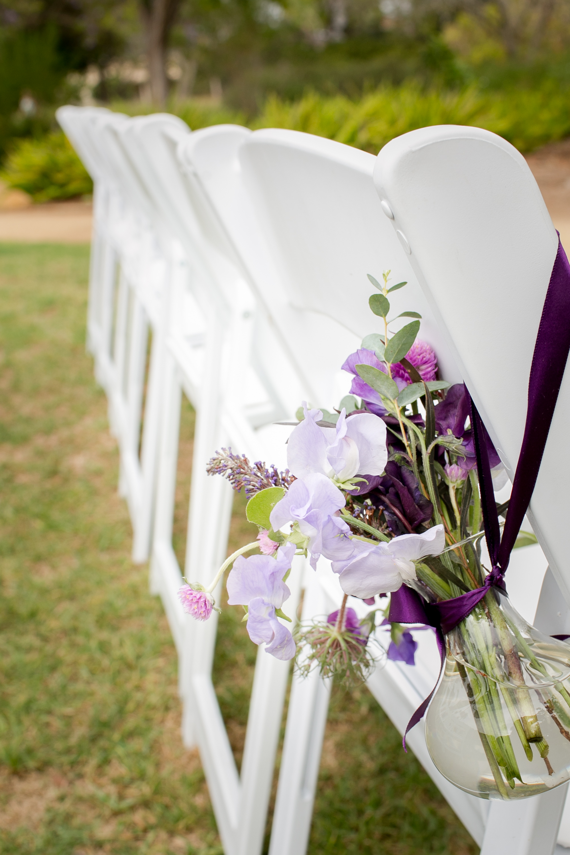 www.felicievents.com | Groom | Felici Wedding | Wedding Ceremony | Purple Aisle Flowers | Santa Barbara Wedding