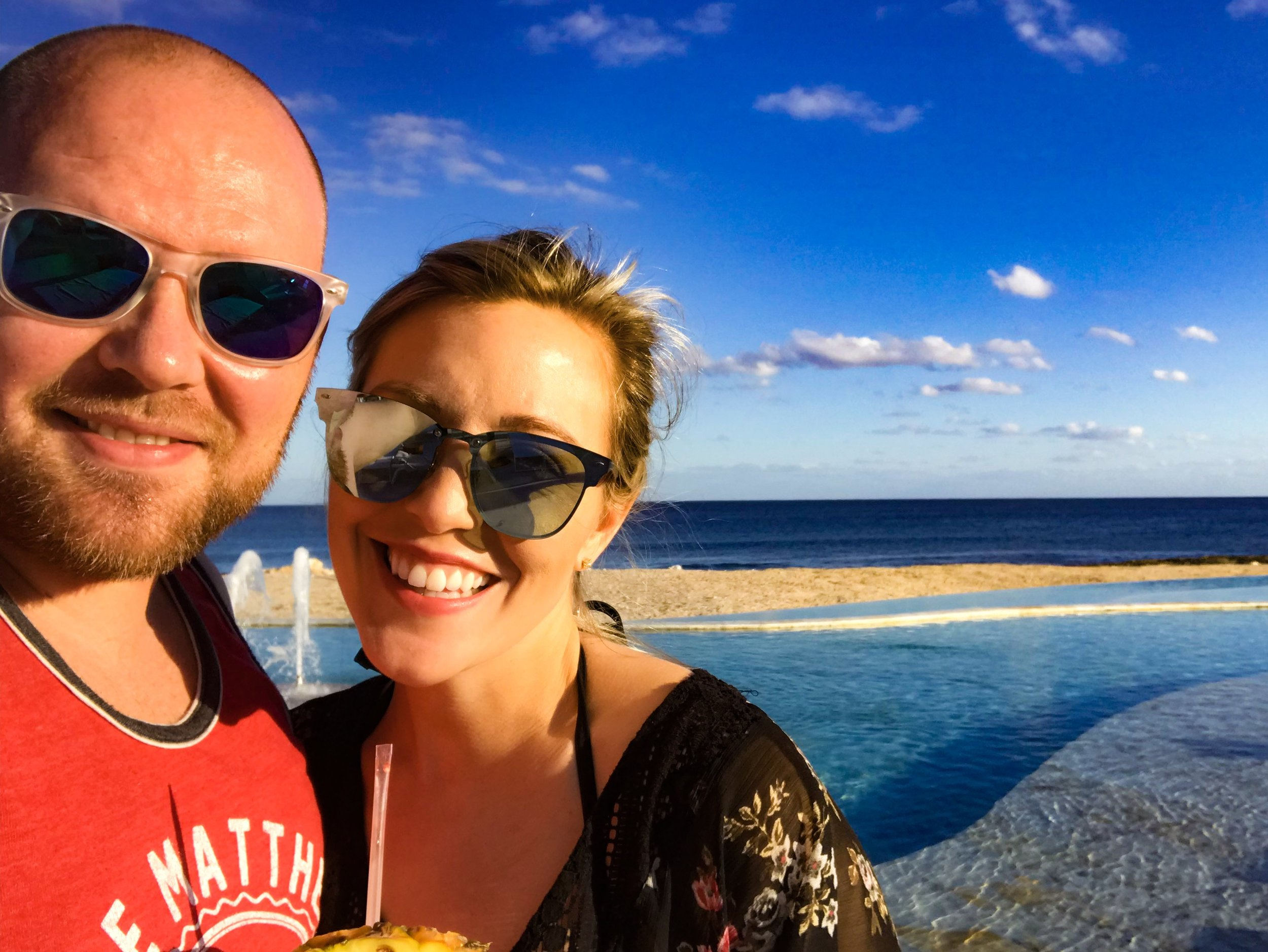 Jake and I on our honeymoon in Riviera Maya last year. To read more about our trip,  click here