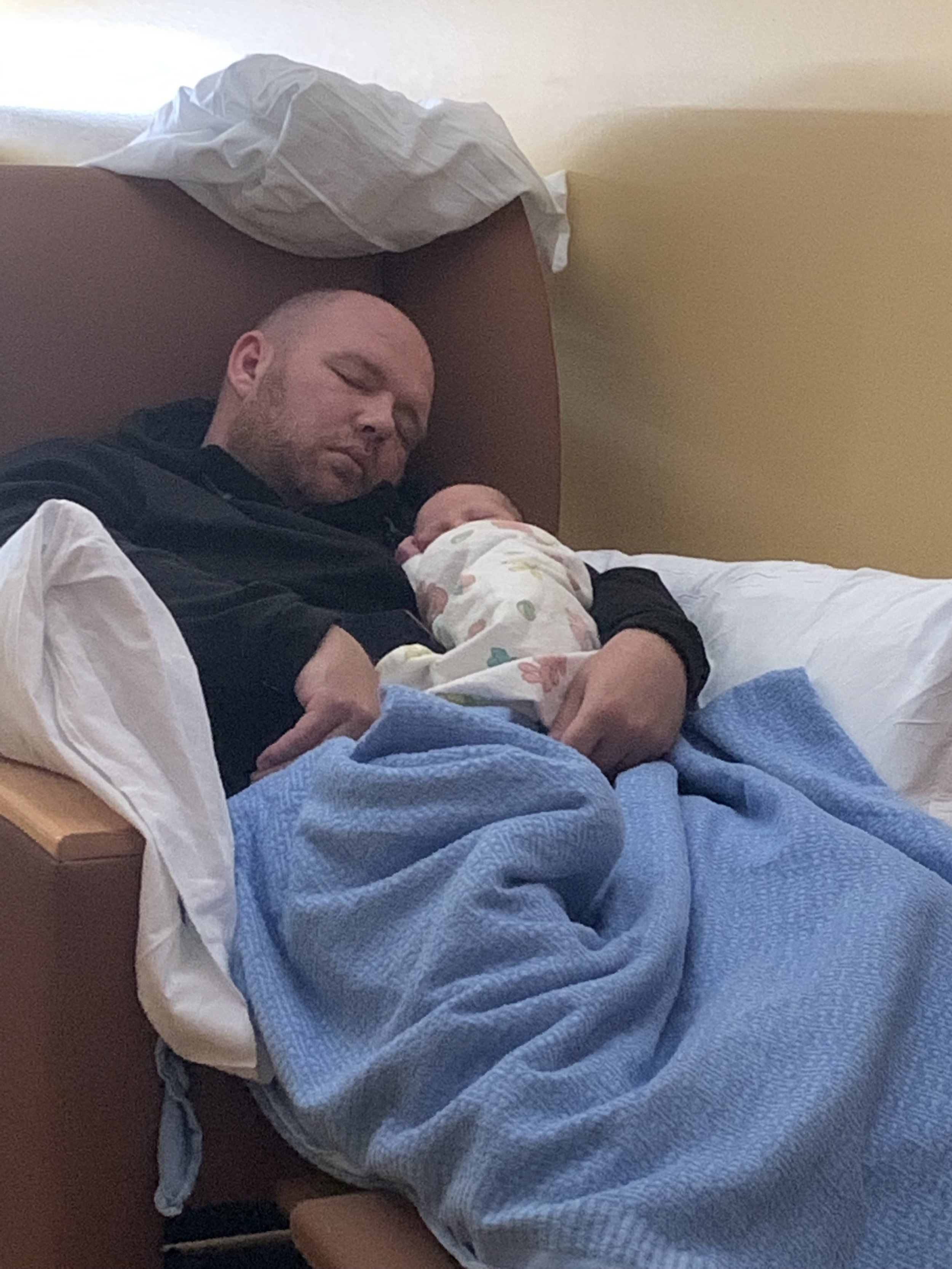 Daddy and Kaden napping away