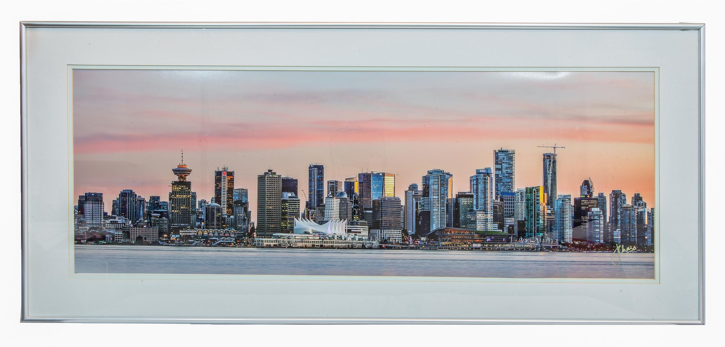 Vancouver Sunset Skyline (Framed)