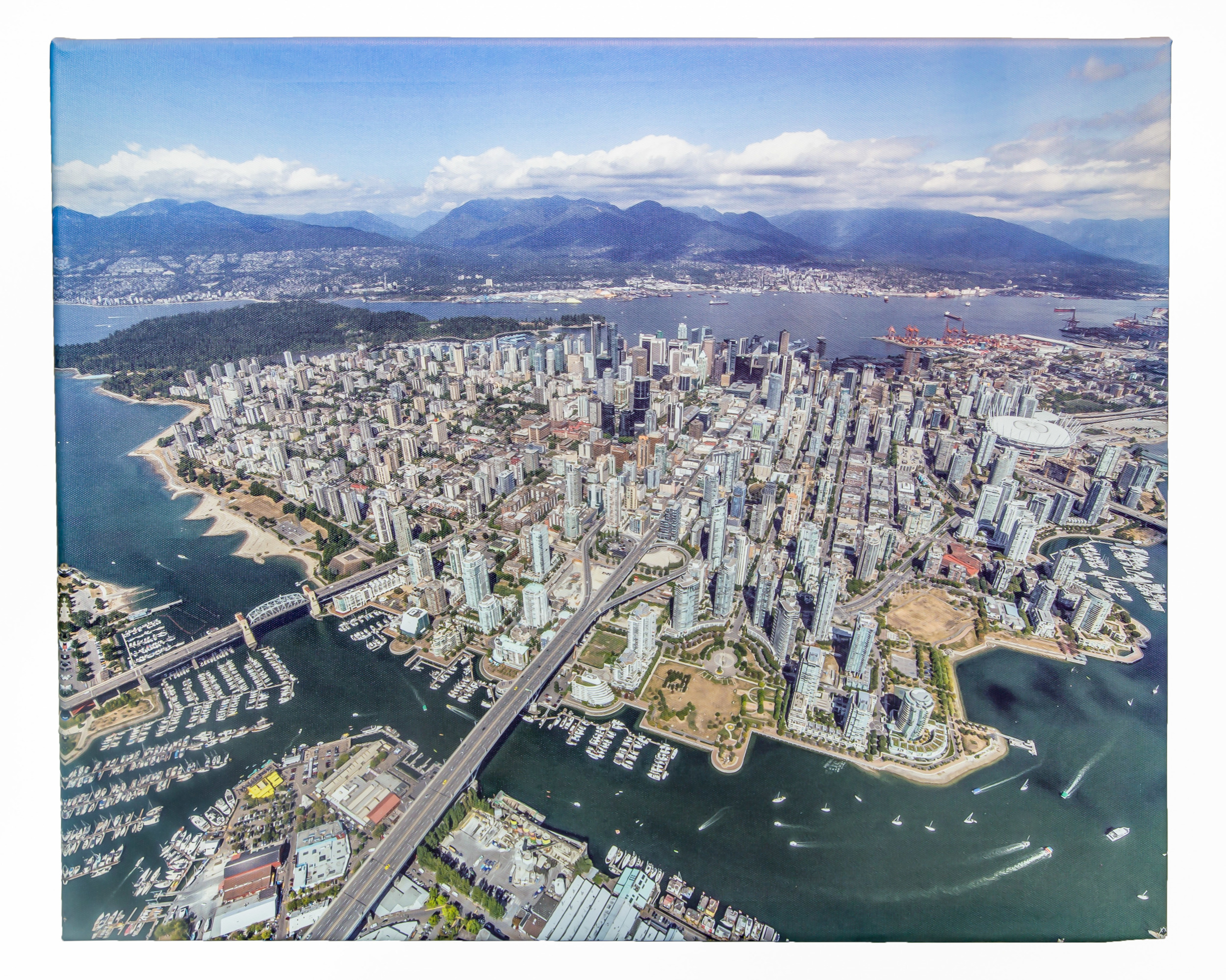 Flying Over Downtown Vancouver (Canvas)