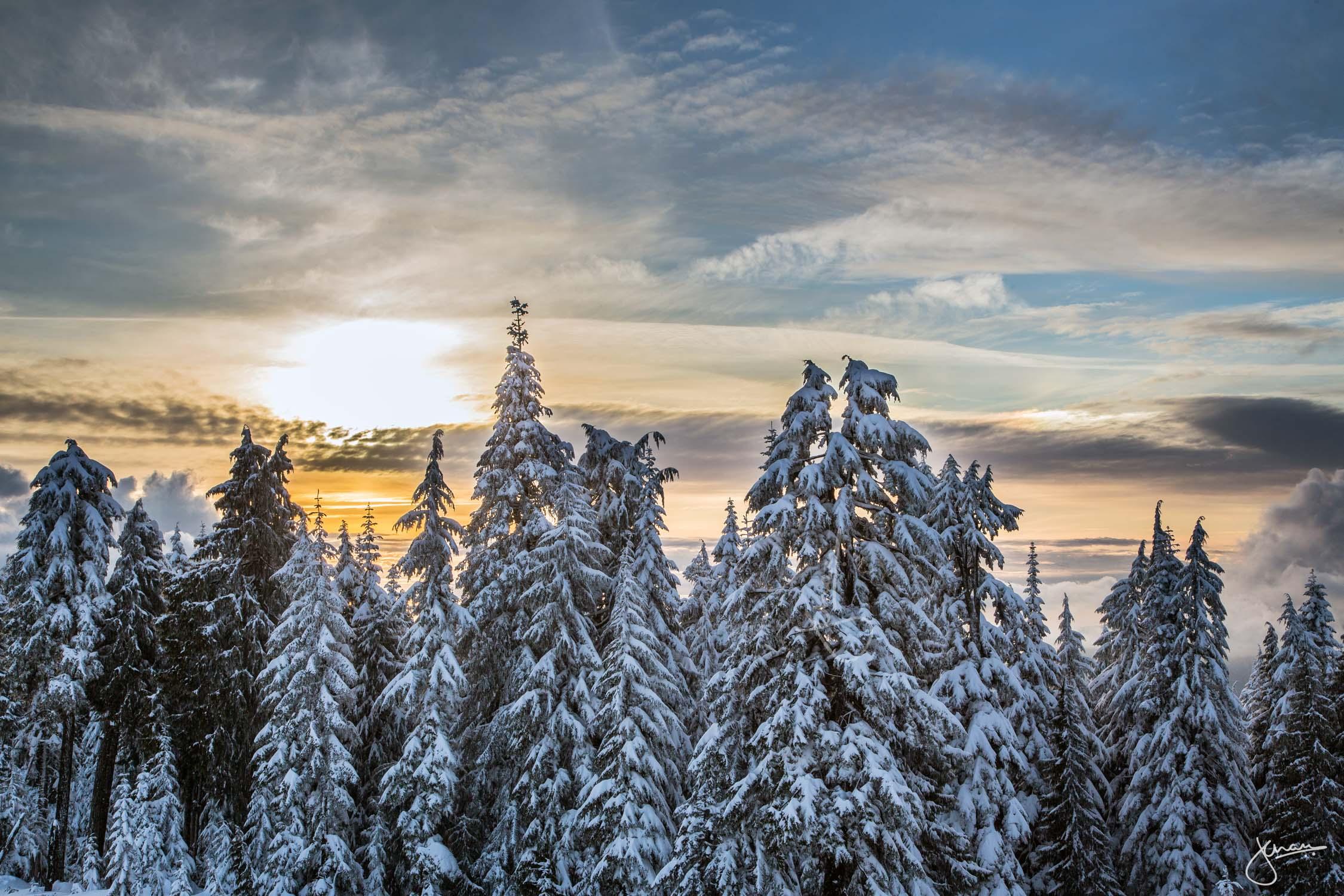 Sunset at Mt Seymour