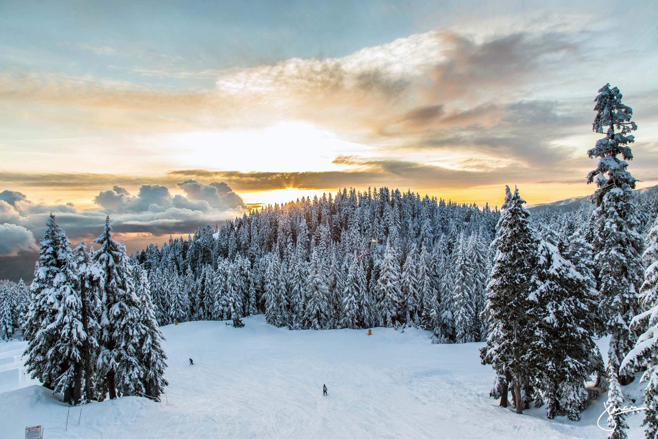 Sunset on Mt Seymour