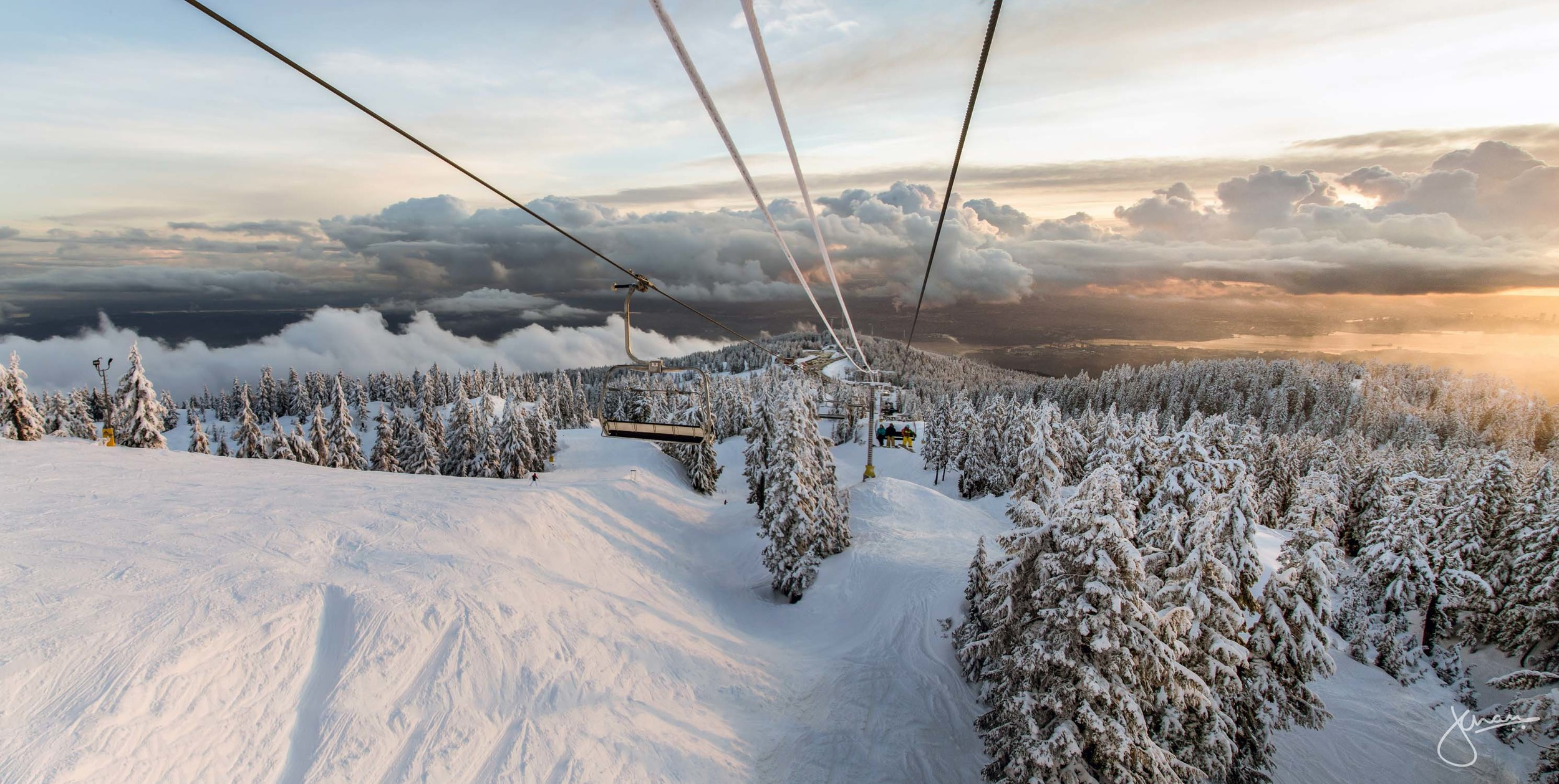 Sunset on the Chairlift