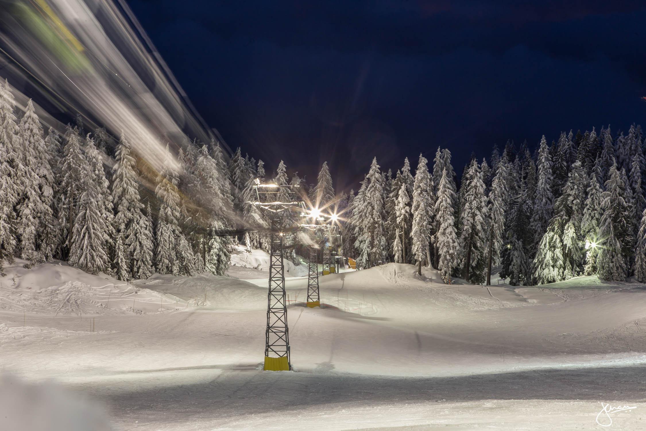 Nighttime on Mount Seymour