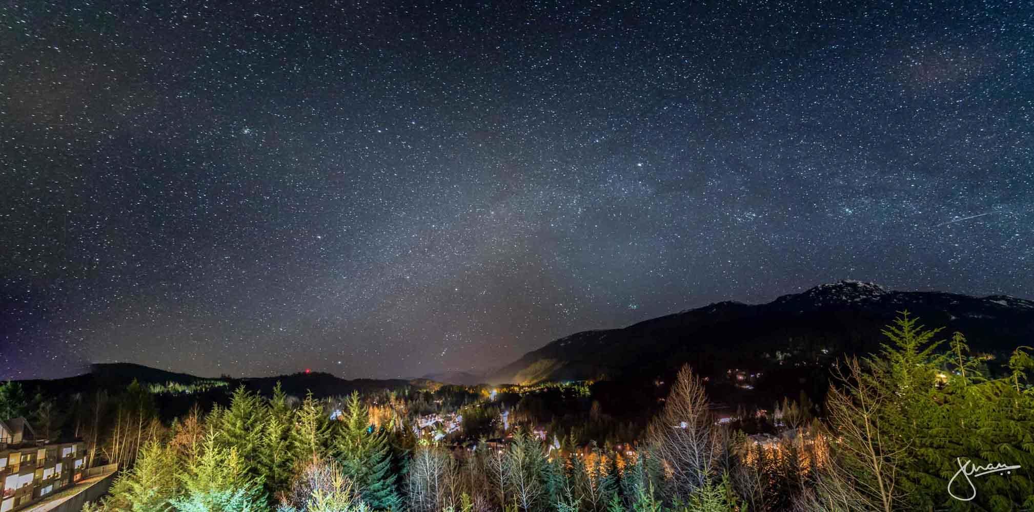 Beautiful Milky Way seen over Nita Lake, Whistler