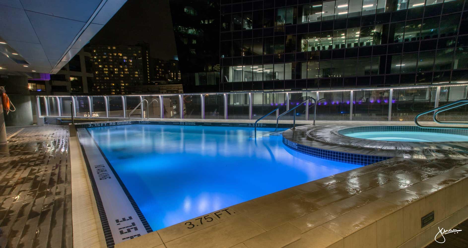 Shangri-la Pool at Night