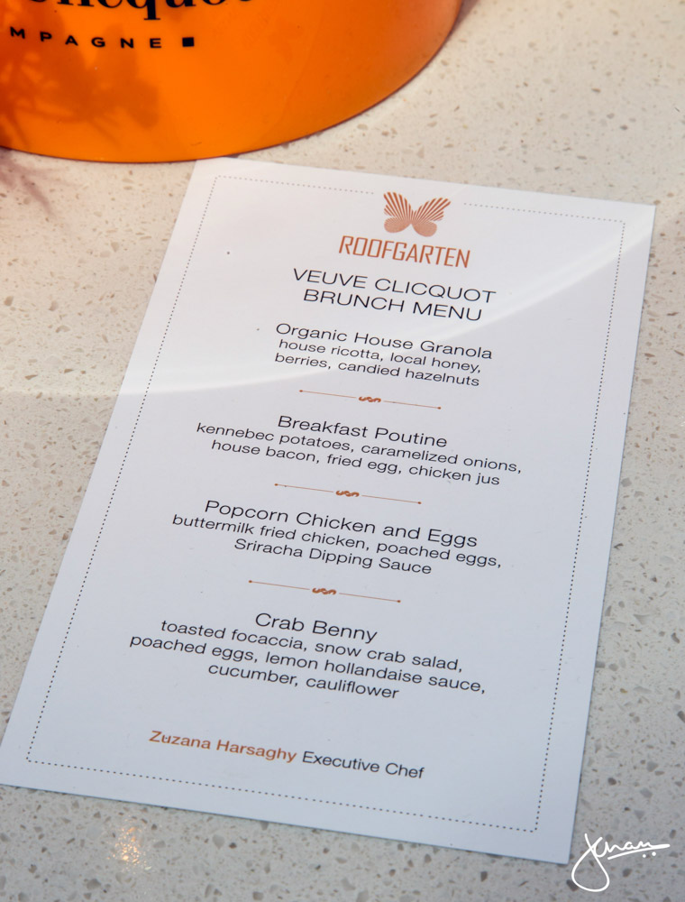 Roof Garten Veuve Clicquot Brunch Menu