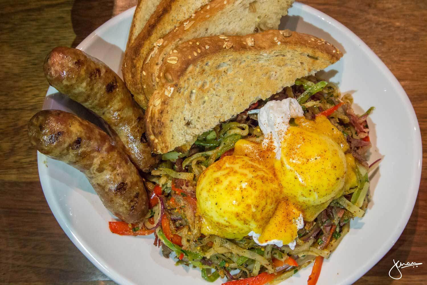 Corned Beef Hash with House-made Bangers