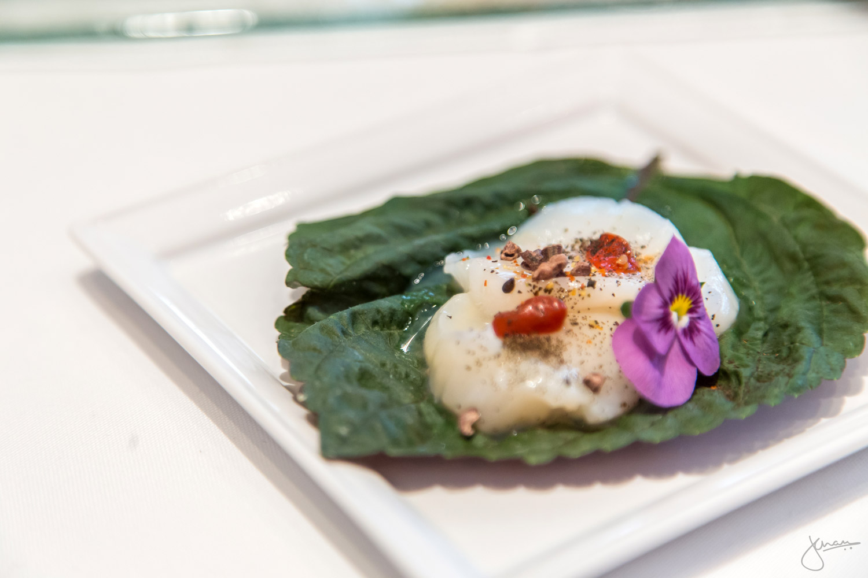 Sea Scallops Crudo with Fresh Goji Berries &Coconut White Balsamic Splash