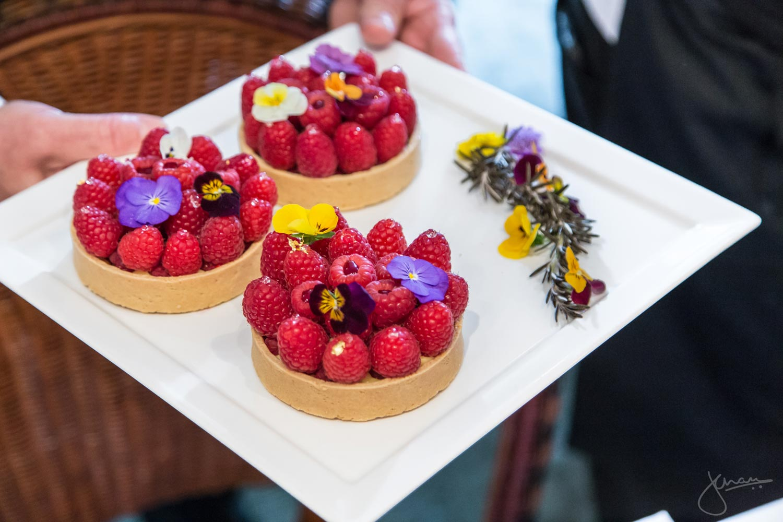 "Raspberry Tart Au Passion Ganache - Fresh Raspberries, Passion Fruit Au White Chocolate Ganache & ""Valentine Breakfast Tea"" Coulis"