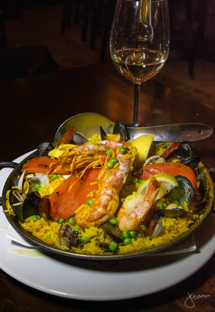 Paella Mixta - Saffron Rice with Seafood, Chicken, Chorizo and Pork