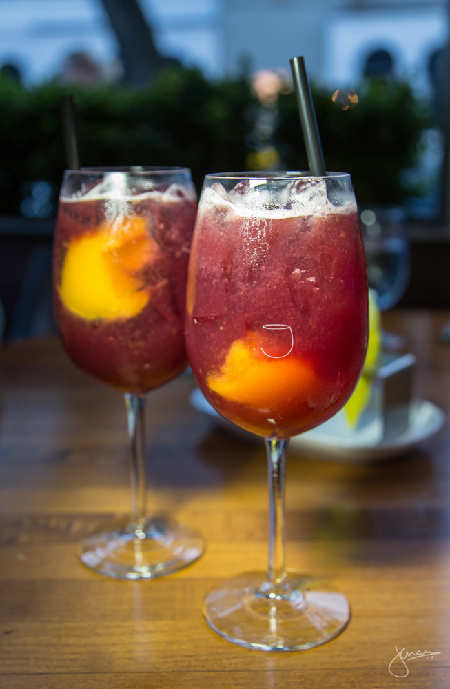 Sangria with Bellini Slush