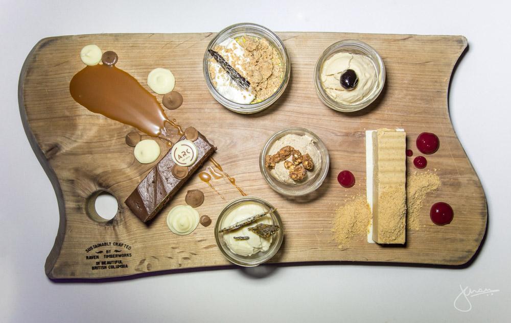 ARC Dessert Platter - Hoyne Brewery Dark Matter Choco Cake, Pistachio Pot de Crème, Ice Cream Trio + White Chocolate Pumpkin Cheesecake