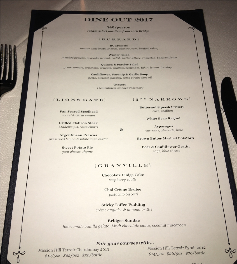 Dine Out Menu