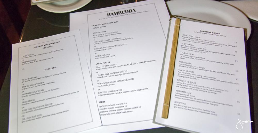 Bambudda Menus
