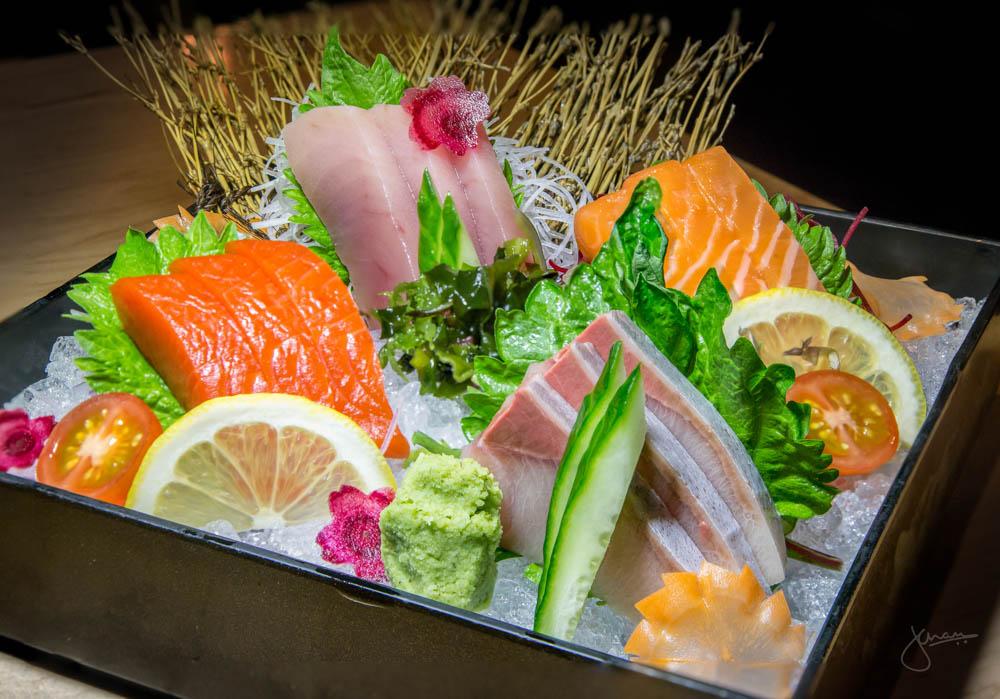 Sashimi Platter: Hamachi, Atlantic Salmon, Sockeye Salmon & Albacore Tuna