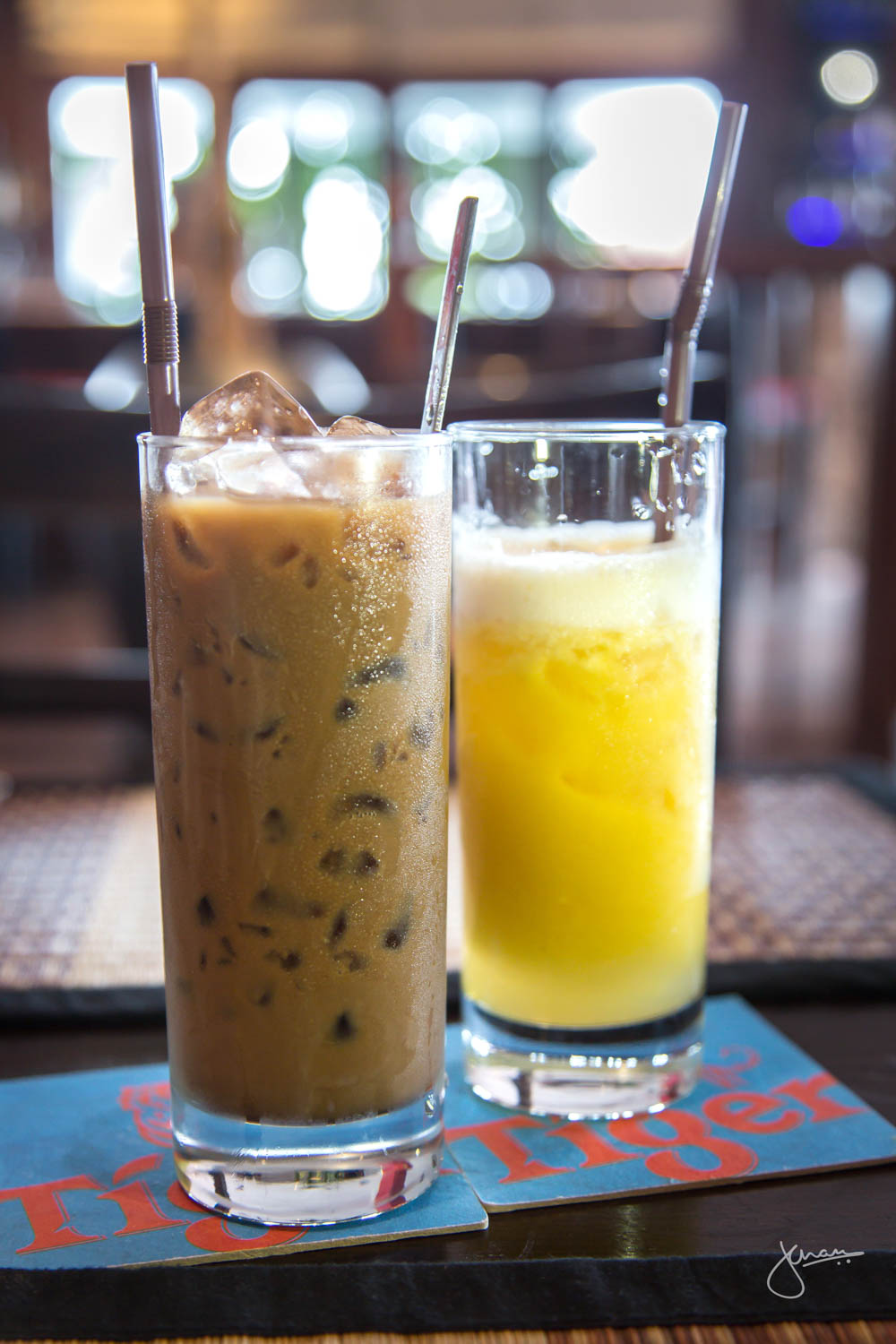 Iced Khmer Coffee & Pineapple Juice