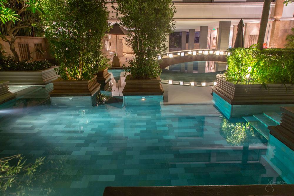 Park Hyatt Siem Reap Pool at Night