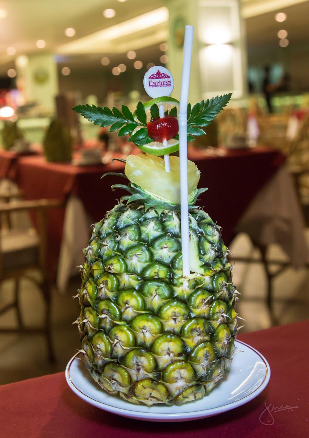 Mai Tai in a Pineapple