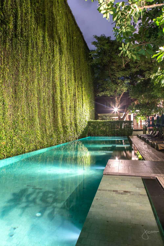 137 Pillars Pool at Night