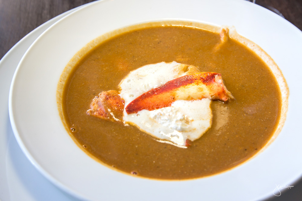 LOBSTER BISQUE | grapefruit chantilly cream Wine Pairing: Kettle Valley Pinot Gris 2014 Okanagan, BC