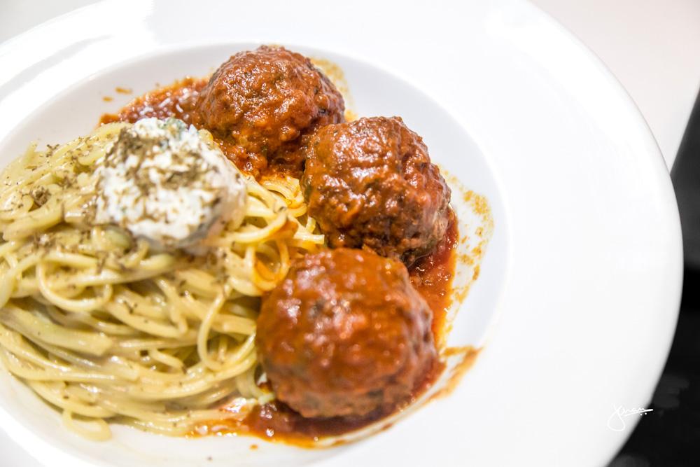 Truffle Spaghetti & Signature Meatballs |truffle cream, herbed ricotta