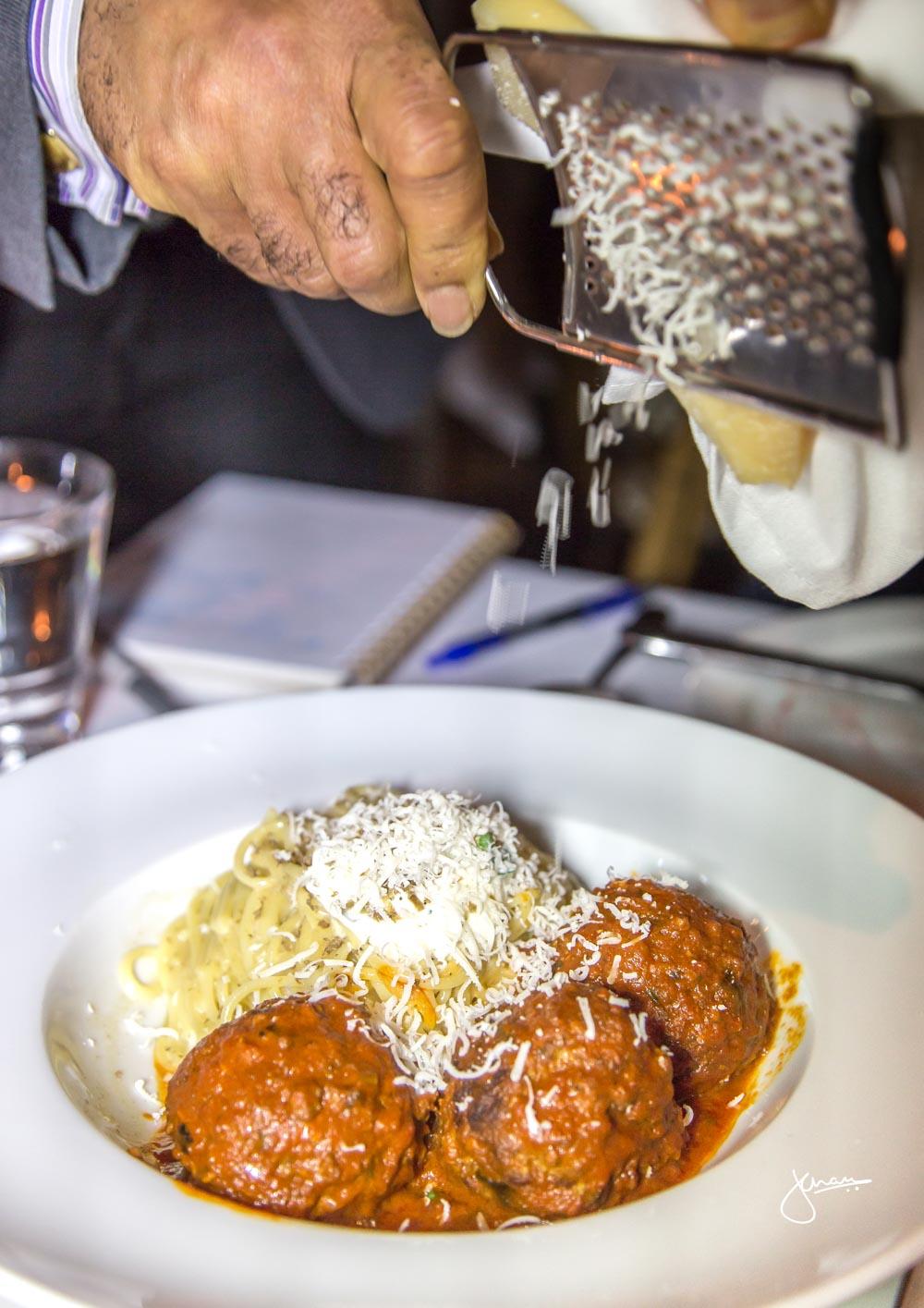 Truffle Spaghetti with Meatballs
