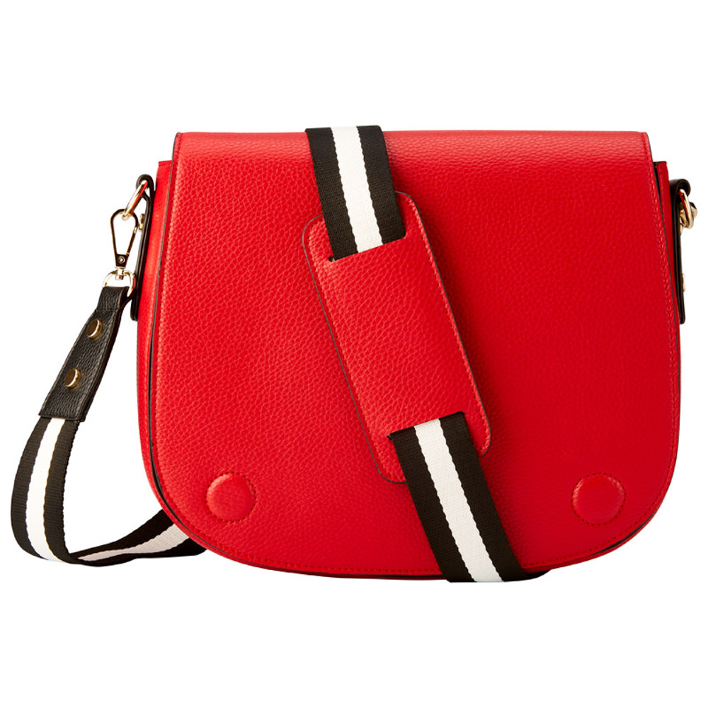 SADDLE BAG WITH WEB STRAP - RED