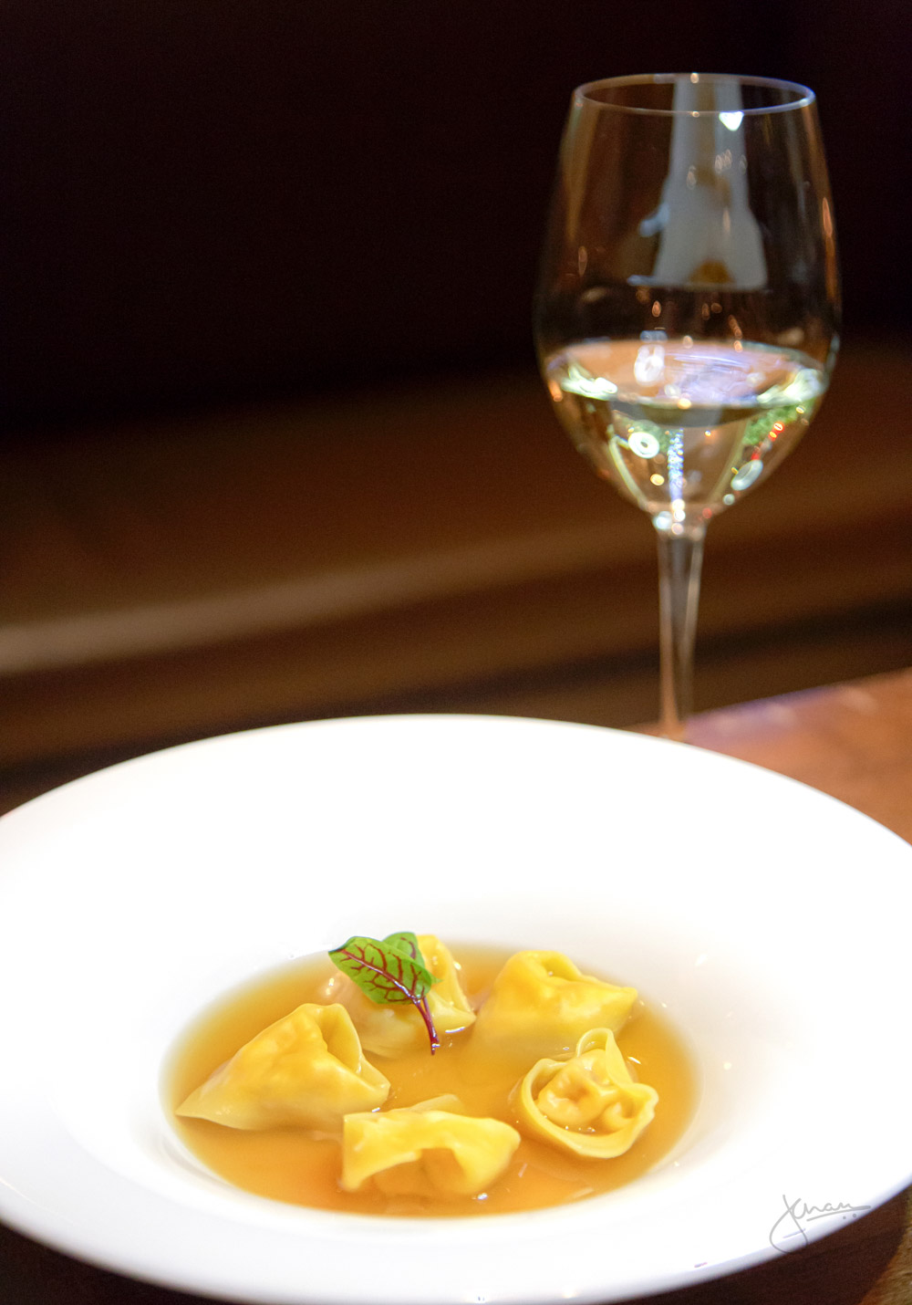 Marche | Lobster Tortellini in Lobster Brodo Wine Pairing: Andrea Felici Verdicchio