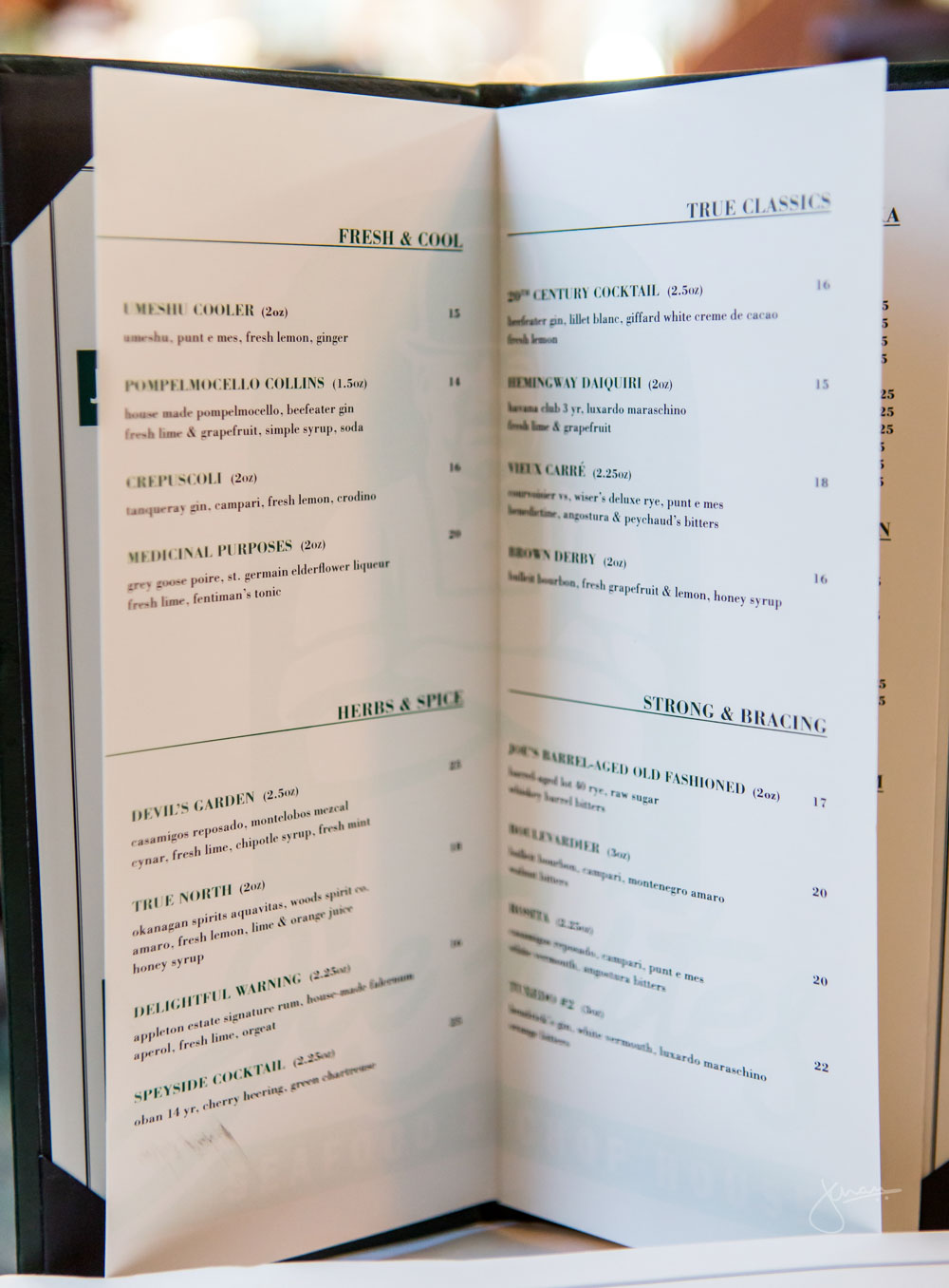 New Cocktail Menu
