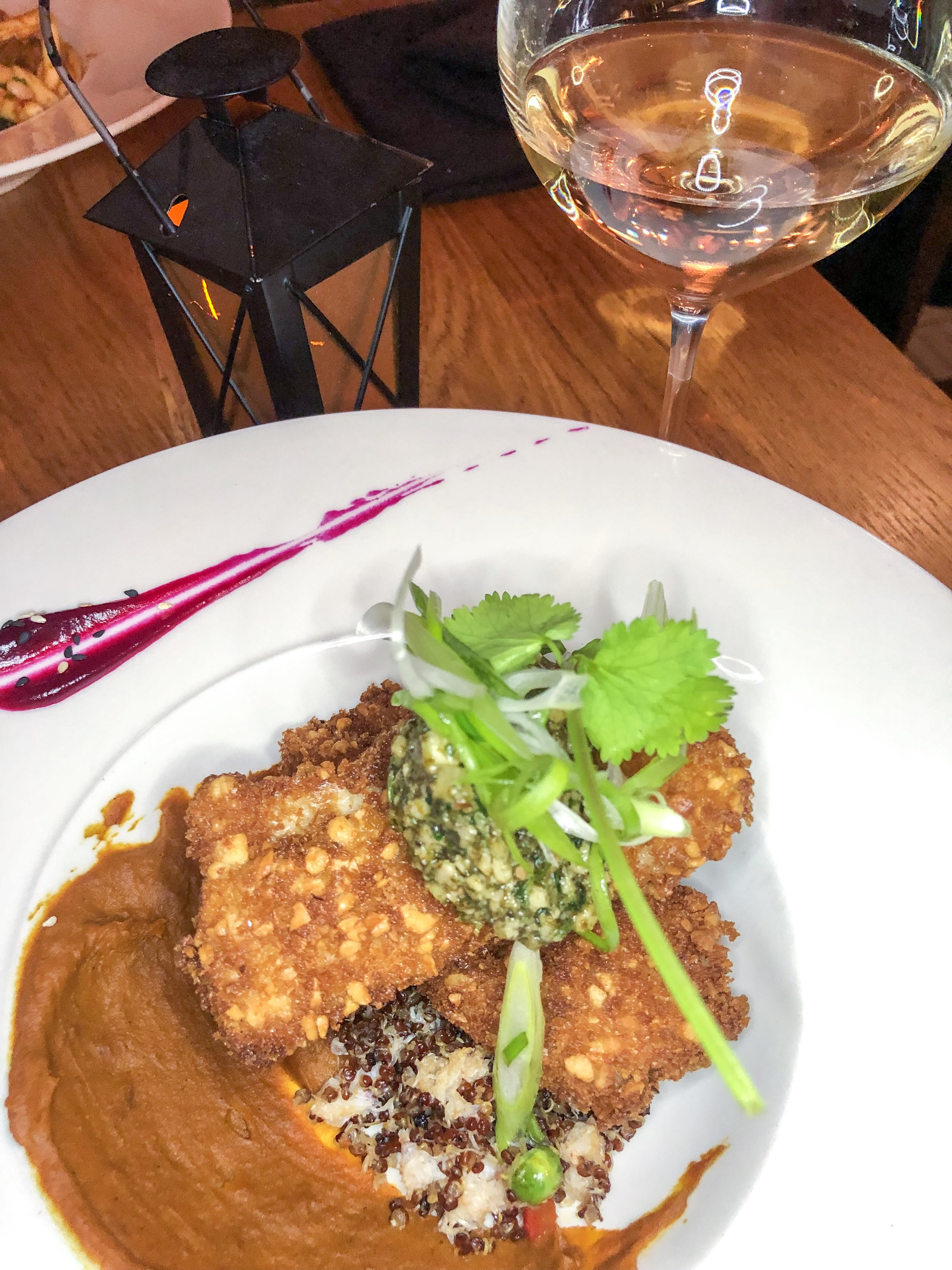 Cashew Crusted Rock Fish with Daydreamer Riesling 2017