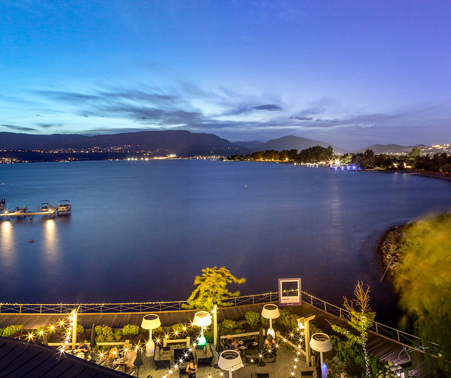Eldorado Resort night view, Kelowna, jenn chan photography
