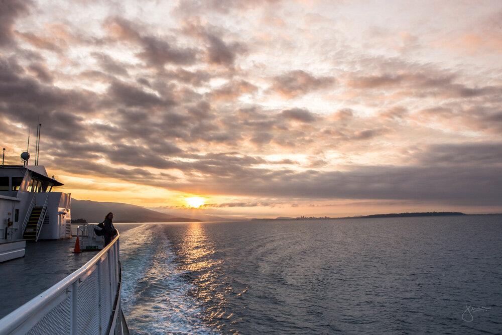 Sunrise on BC Ferry