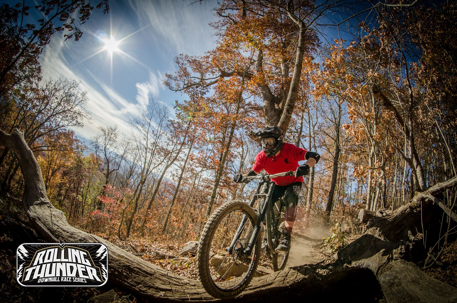 Rolling through dry, dusty conditions at Bailey Mountain Bike Park. PC IconMediaAsheville