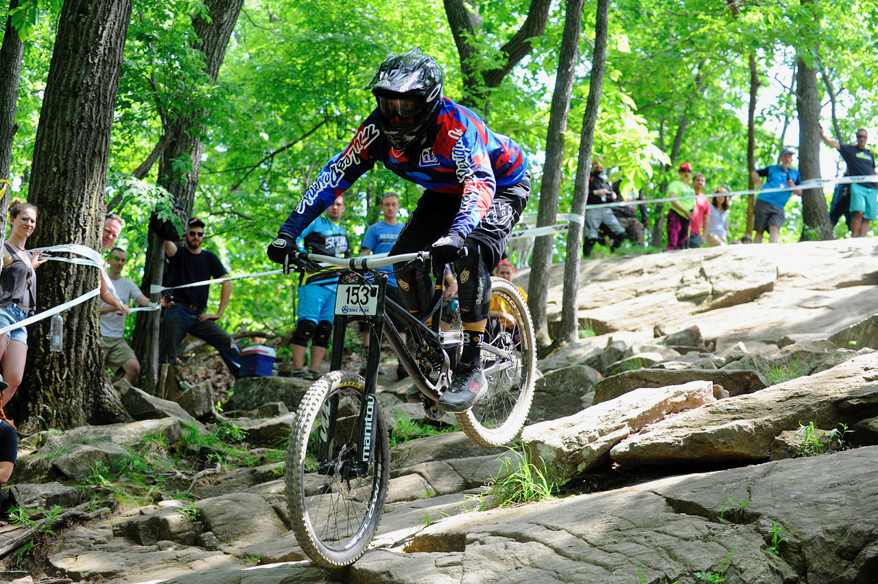 Andy keeping it stable in the Mountain Creek Asylum - Pro GRT 2016