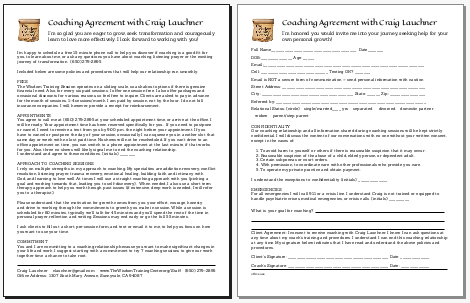 Get the Coaching Agreement form here (PDF)