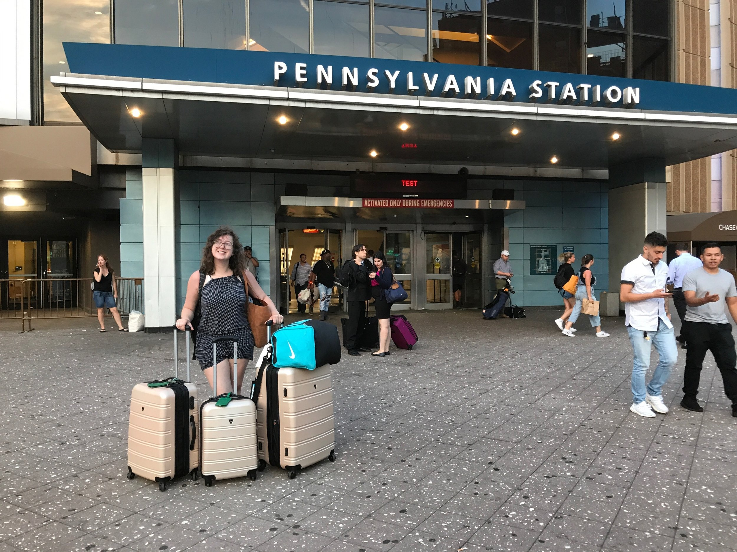 Aug 17–The day I arrived at Penn Station with my bags for the next month. Ready to take on anything and everything the city threw at me. I literally cried when I found my friend I would be staying with. It was so surreal stepping off the train. Photo Credit:  Kaitlin Hatton