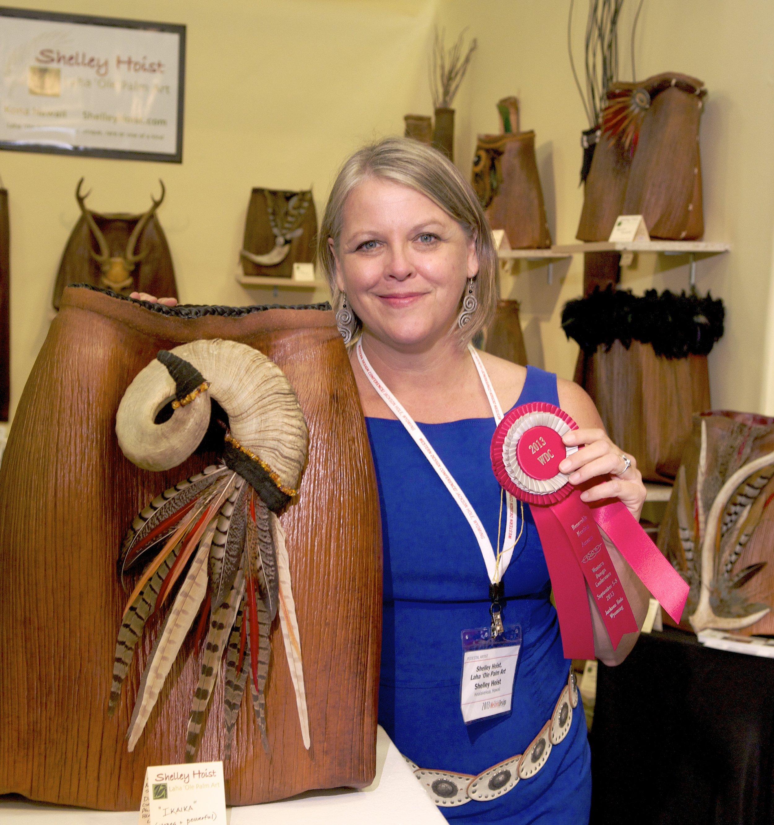 Shelley Hoist and Award Winning Ikaika 2013.JPG