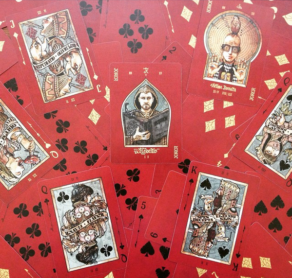 Some detail from Lorenzo's Requiem cards