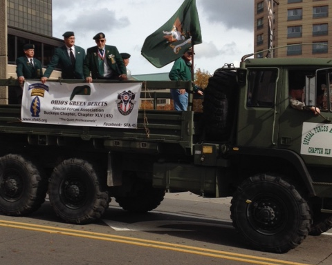 SFA 45 in the 2015 Columbus Veteran's Day Parade