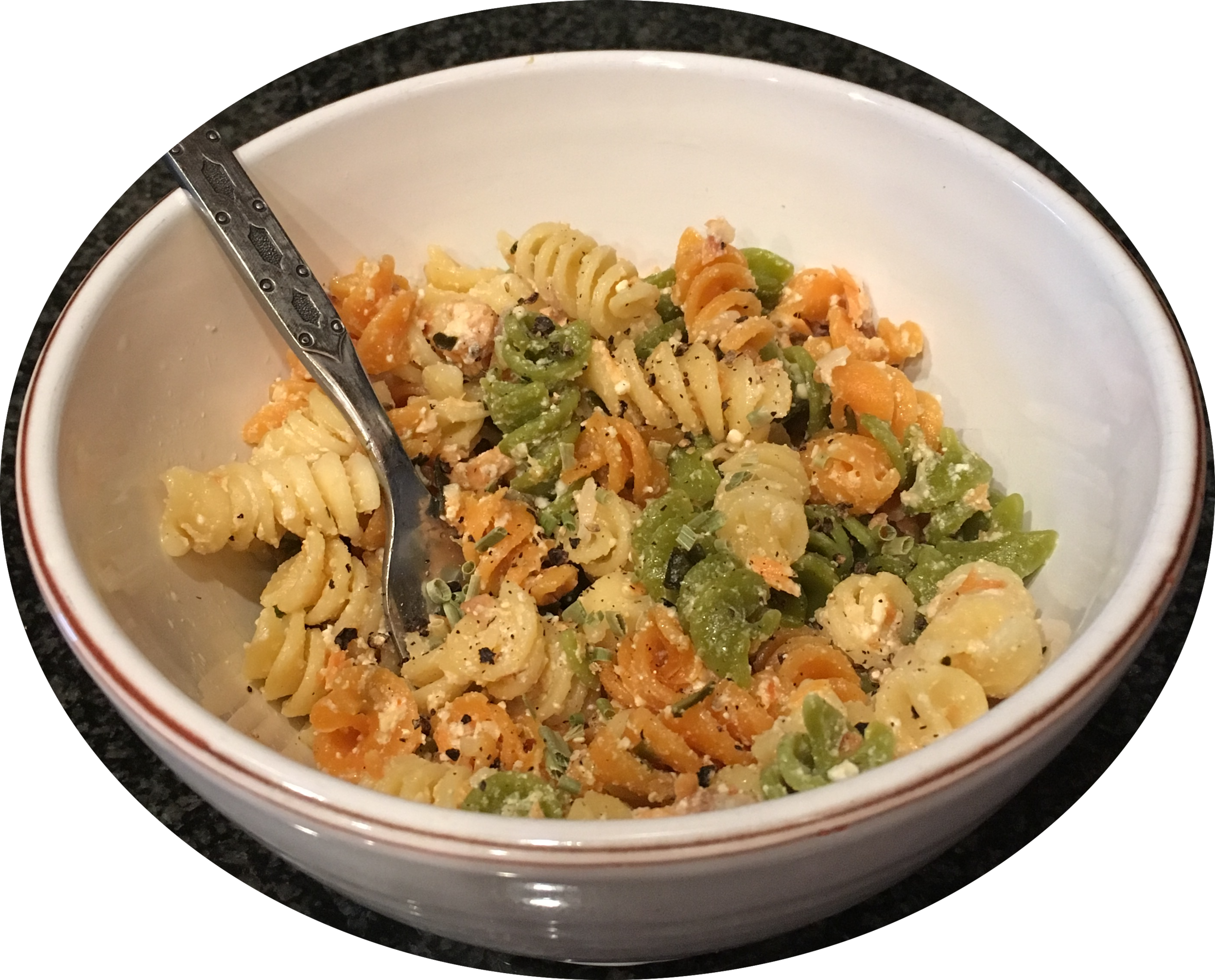 Medicated Creamy Smoked Salmon Pasta - Medicated with CBDusing Big Horn Oil Company's olive oil infused by Cannabella Kitchen with CBD isolate -avoid the THC!