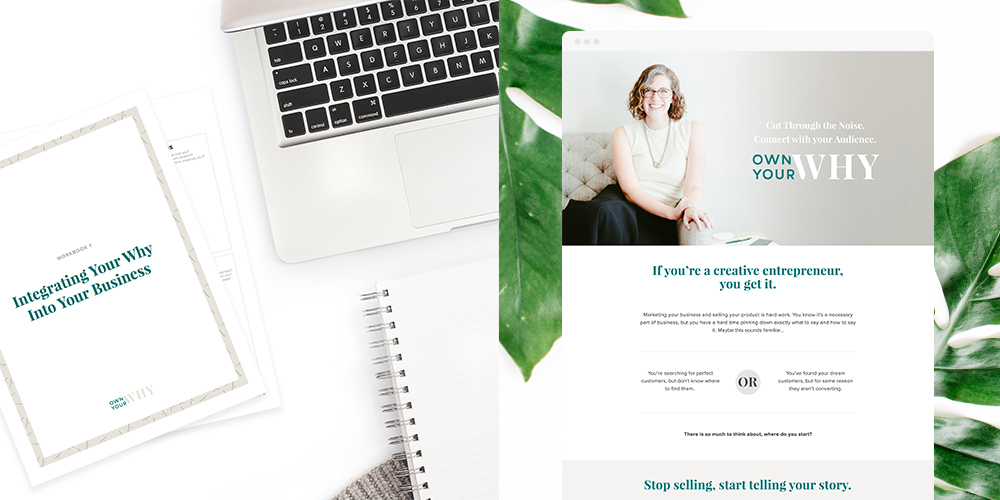 Liz also designed the sales page and program materials for  Own Your Why .