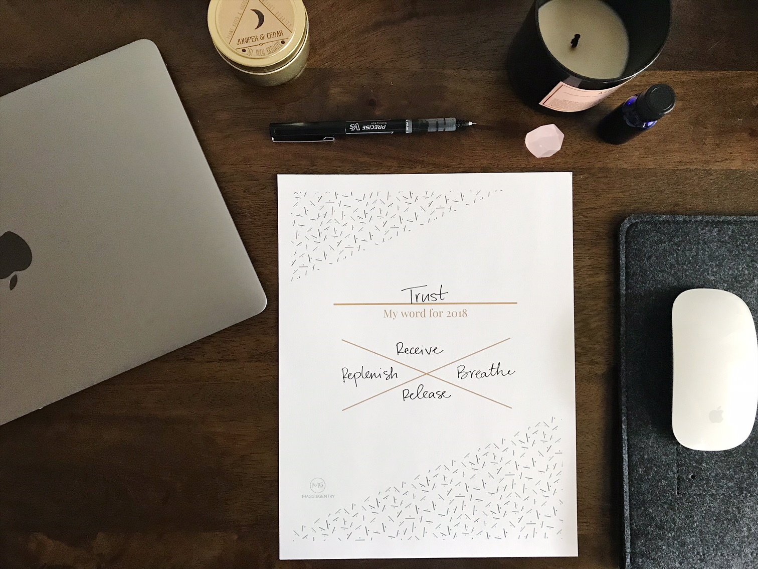 With the new year upon us, many of us are sharing our resolutions. In an attempt to create more expansive change in my life, I've decided to develop a word, or intention, for the year ahead.